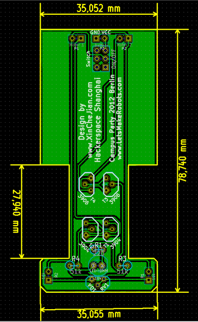 analog line follower PCB layout